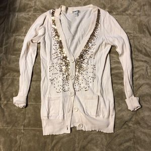 2 for $12 Great spring cardigan with gold accent